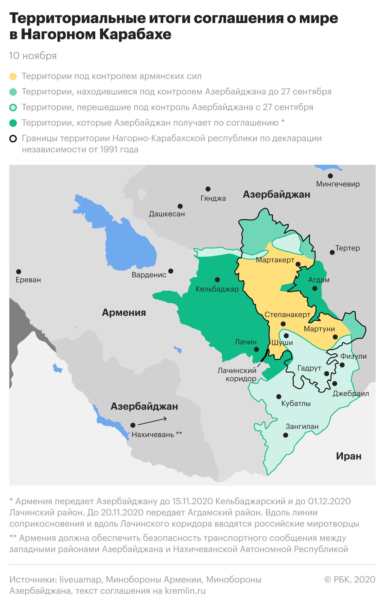 Новая карта Нагорного Карабаха