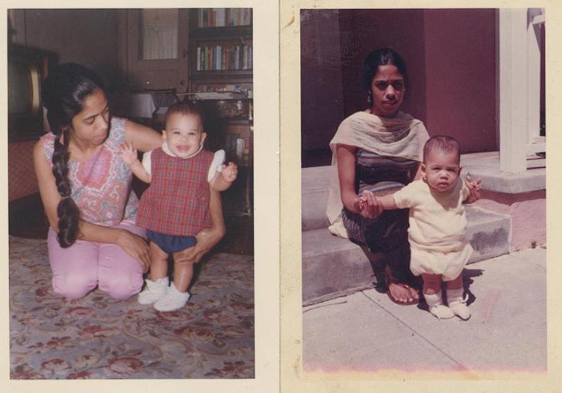 Камала Гарріс у дитинстві з матір'ю