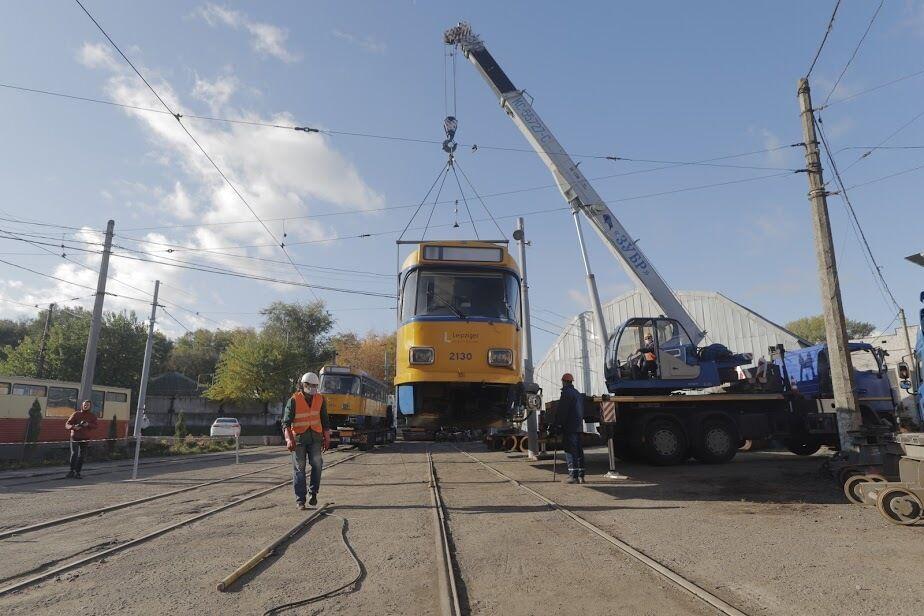 Днепр строится с любовью: трамвайный парк снова пополнили комфортабельными вагонами из Лейпцига
