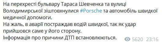 """Повідомлення """"Києва Оперативного"""" в Telegram"""