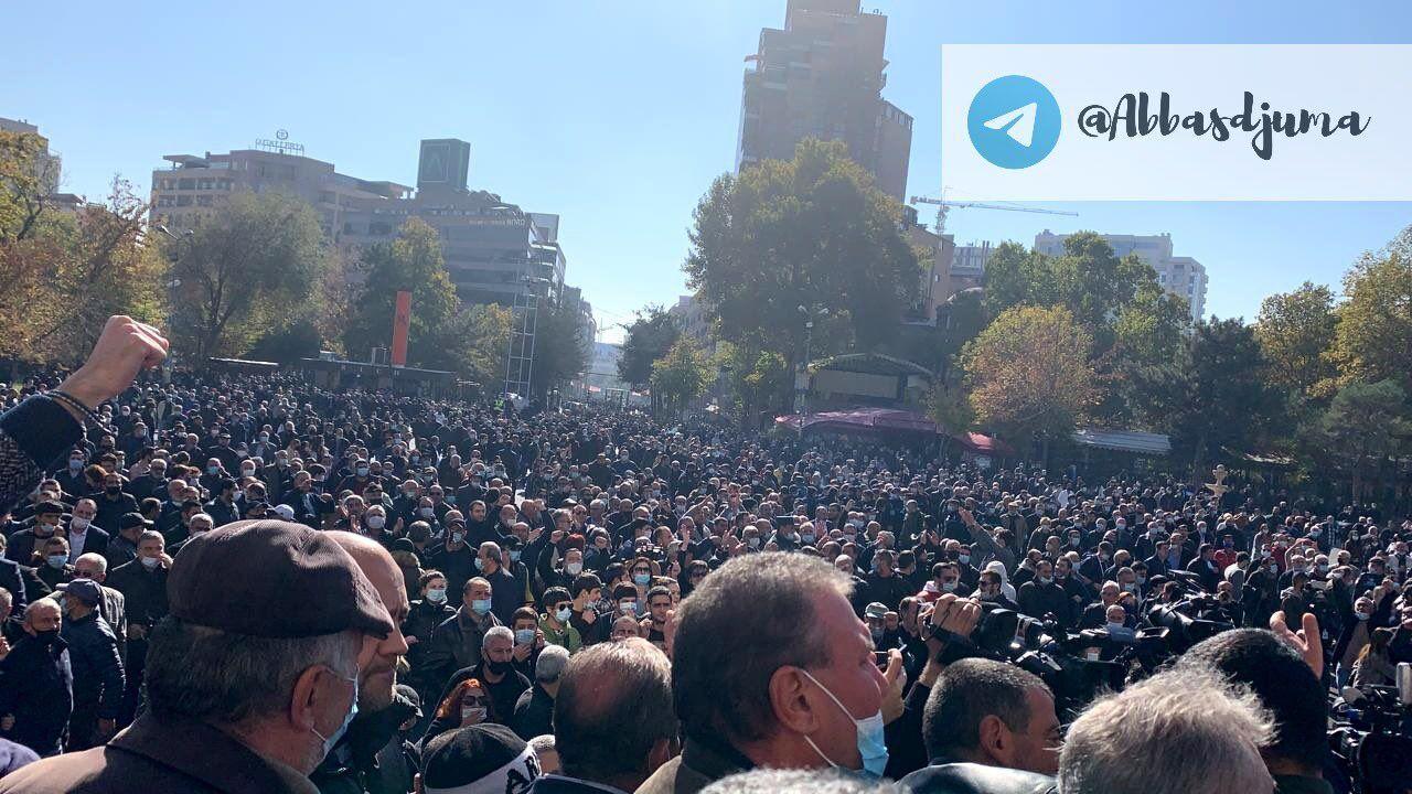 У Вірменії протестують проти світу в Карабасі