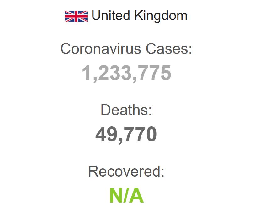 Коронавирус в Великобритании.