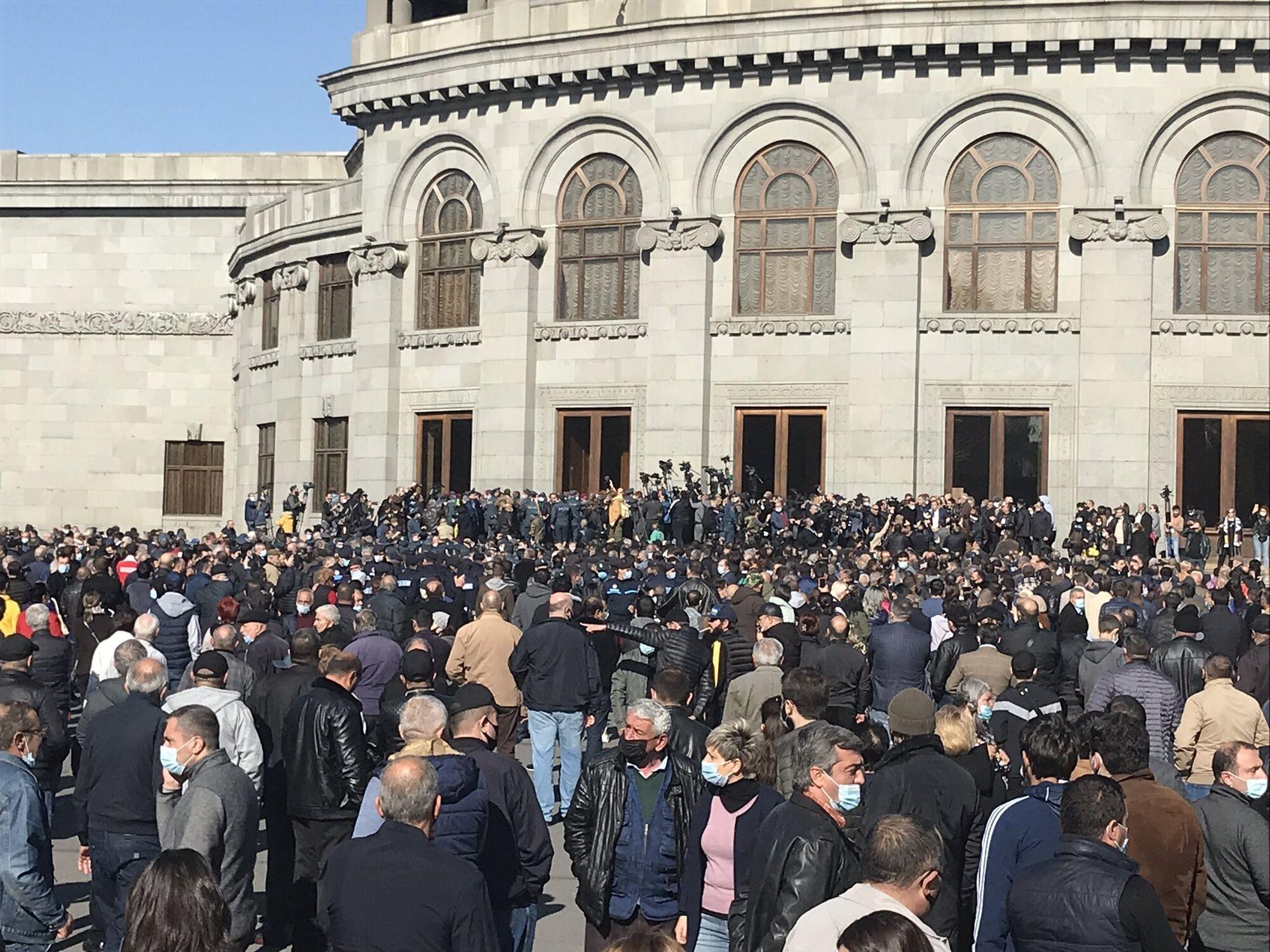 У Вірменії протестують протимиру в Карабасі