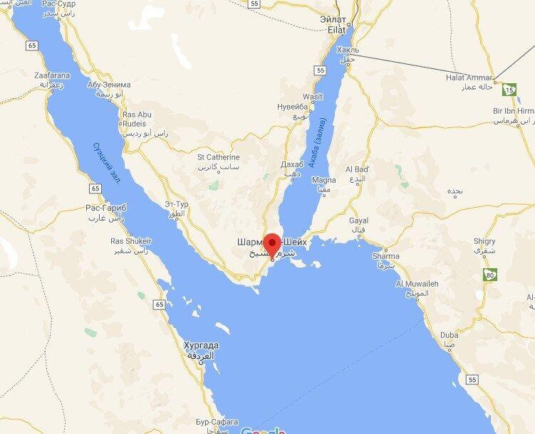 Вертолет упал недалеко от Шарм-эль-Шейха.