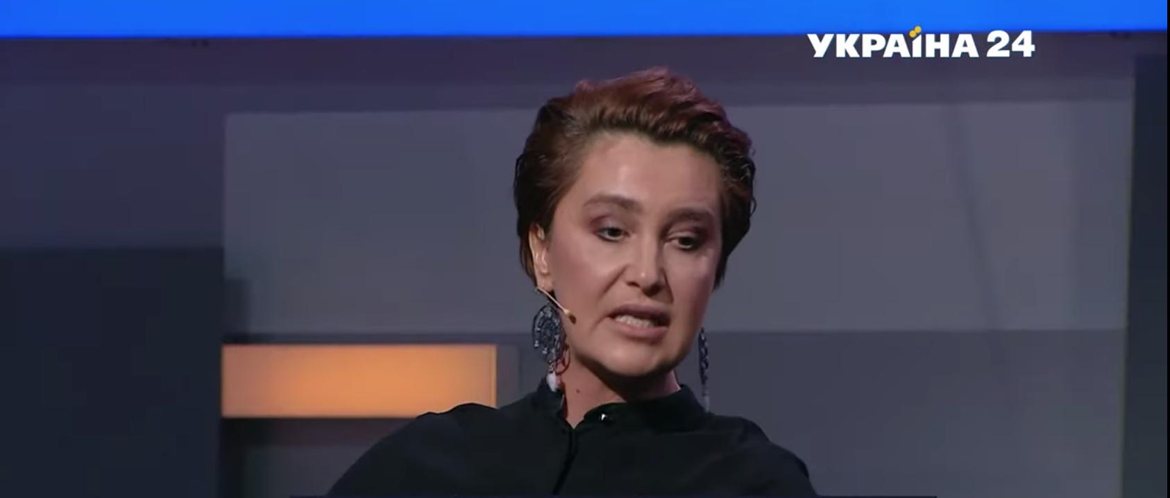"""Сніжана Єгорова на каналі """"Україна 24""""."""