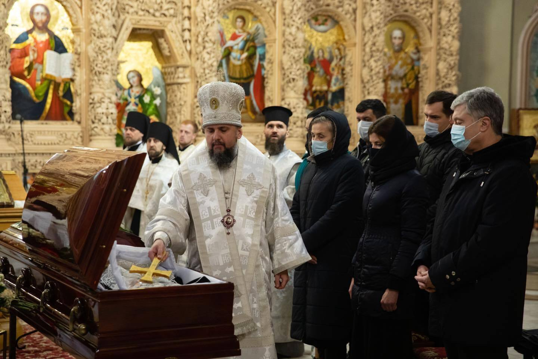 Прощання з матір'ю Марини Порошенко відбулося у Свято-Михайлівському соборі