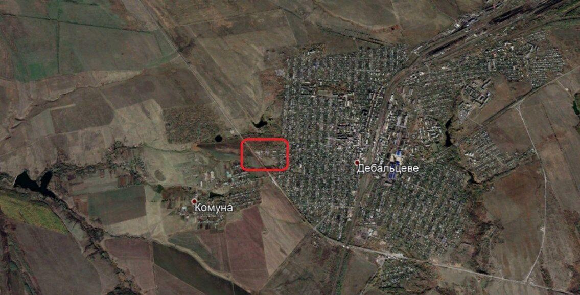 Расположение базы террористов.