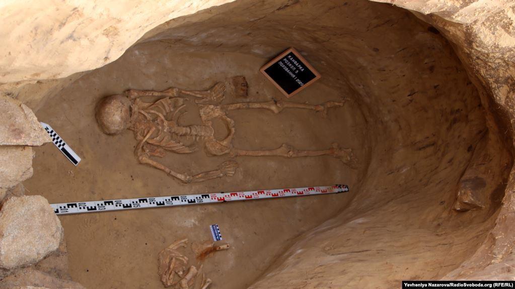 На Хортиці знайшли вціліле поховання скіфського воїна
