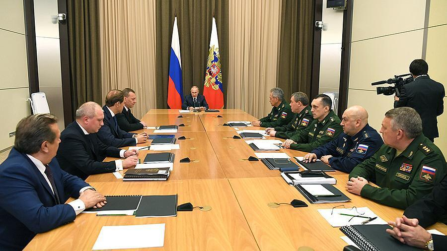 Совещание с Путиным
