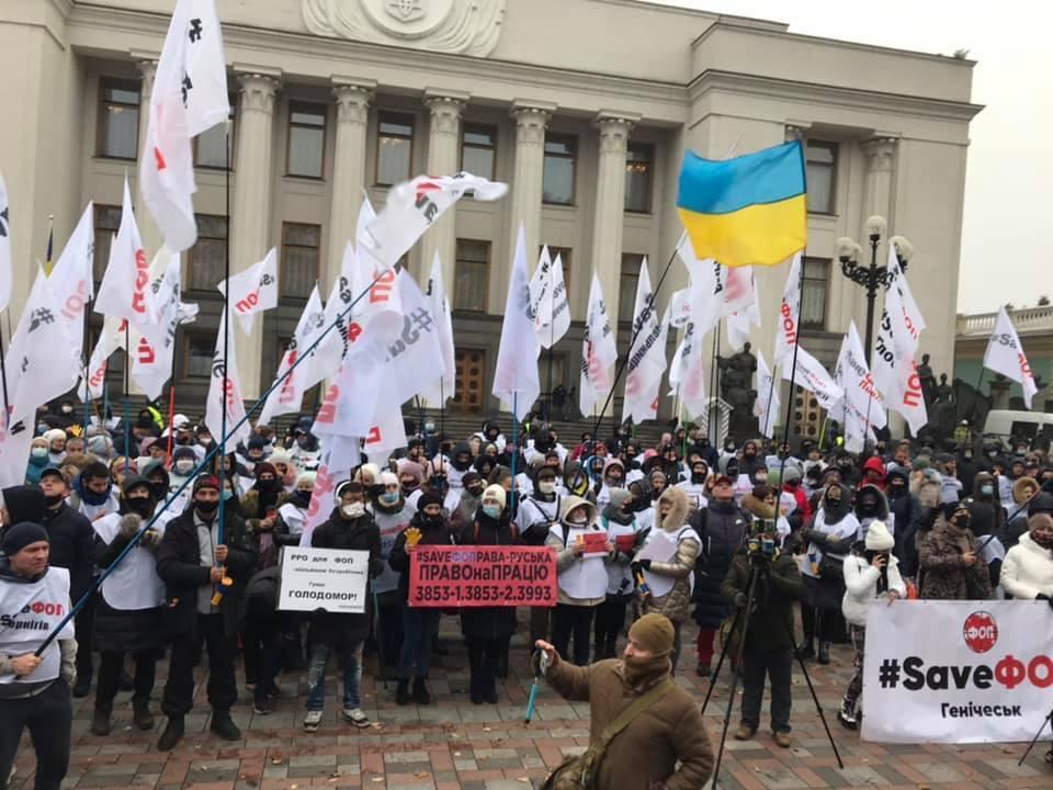 Біля будівлі парламенту зібралося понад 100 мітингувальників