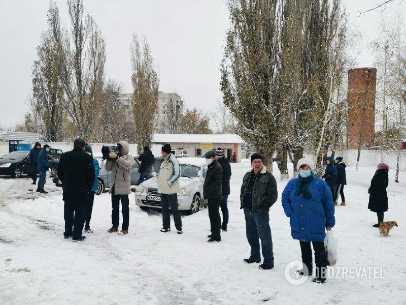 Мирная акция протеста в Купянске