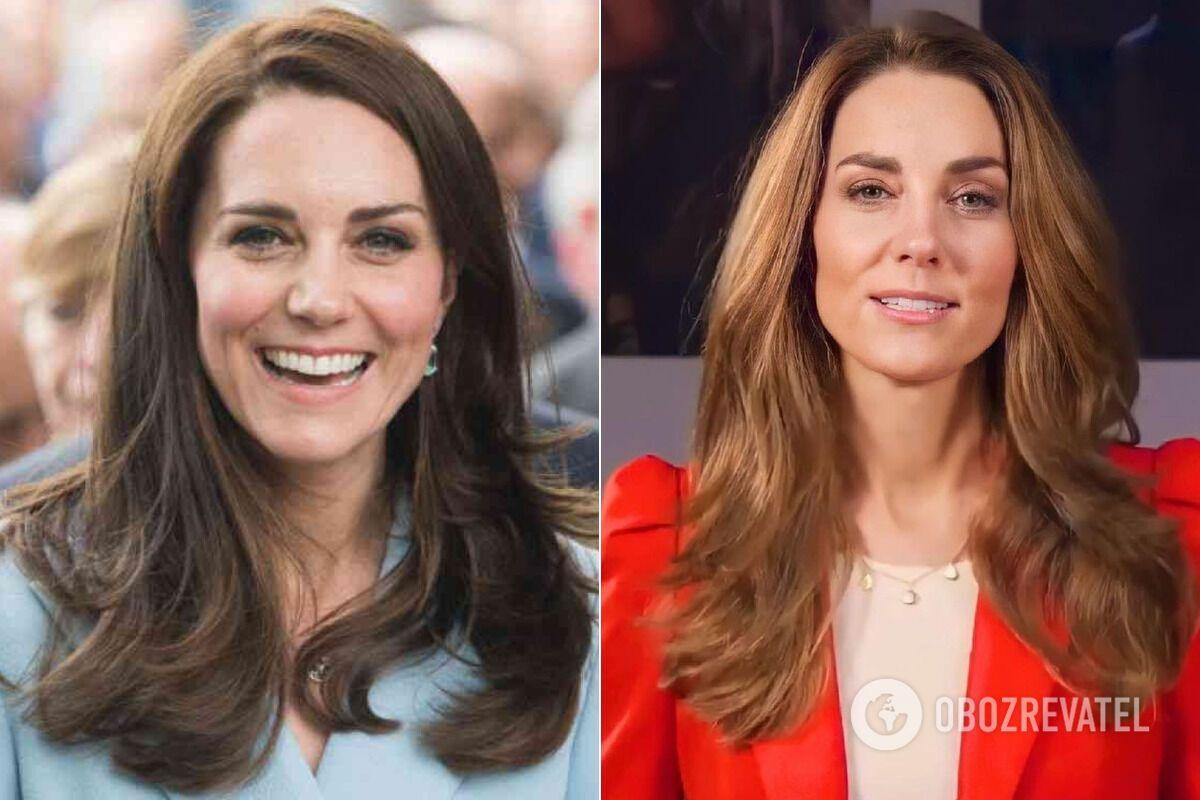 Кейт Миддлтон до и после смены имиджа