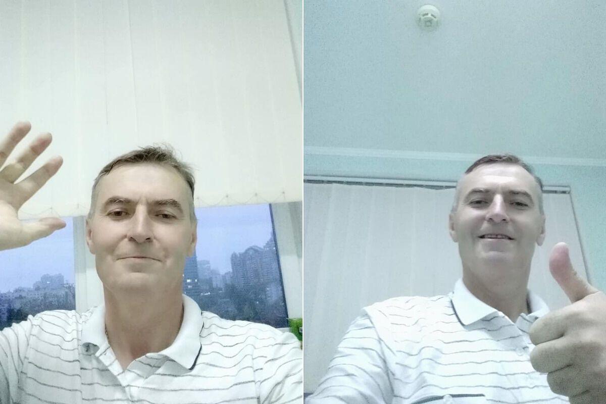 Олександр Луговий під час лікування від коронавірусу