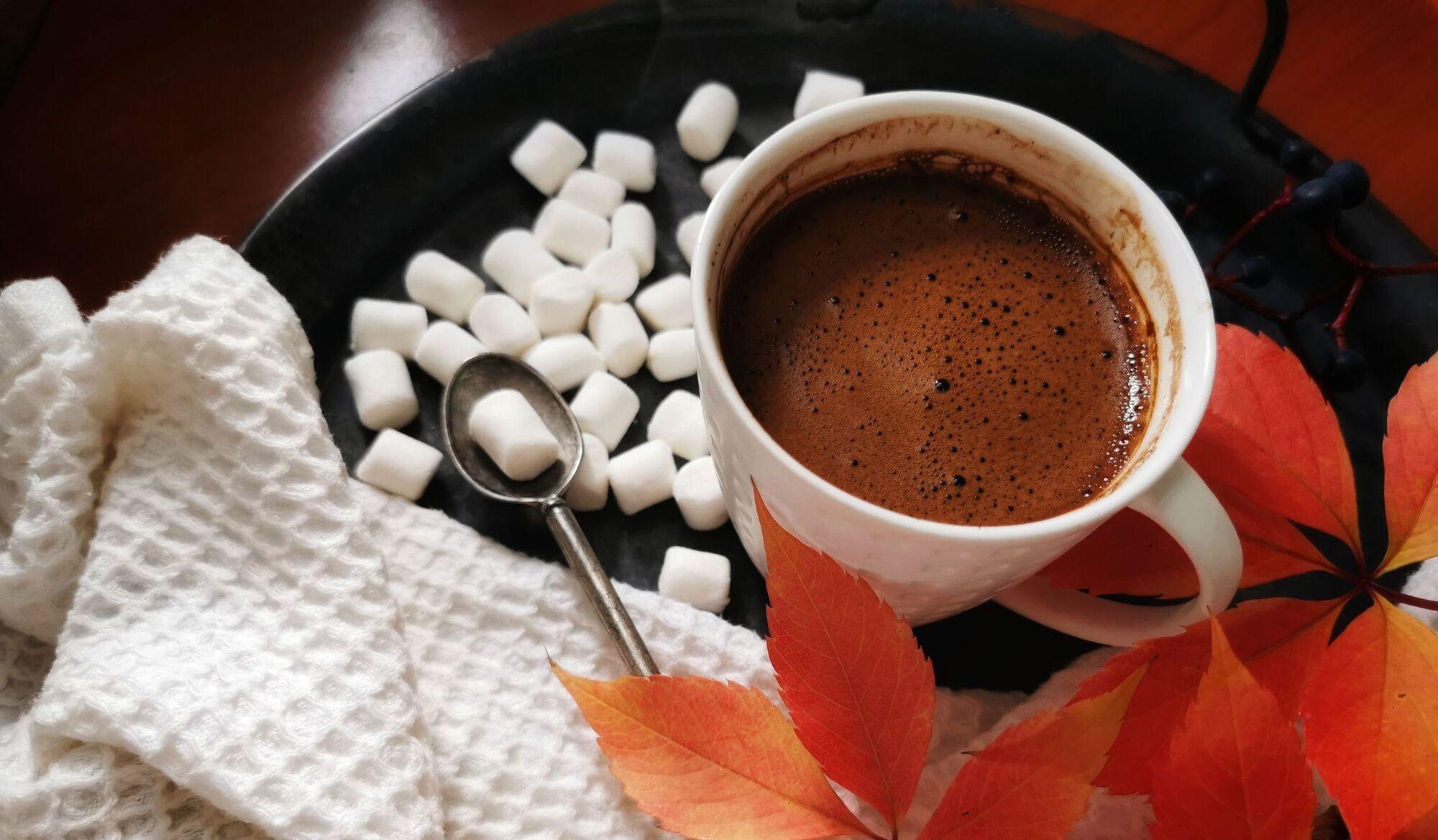 Гарячий шоколад з цитрусами та корицею