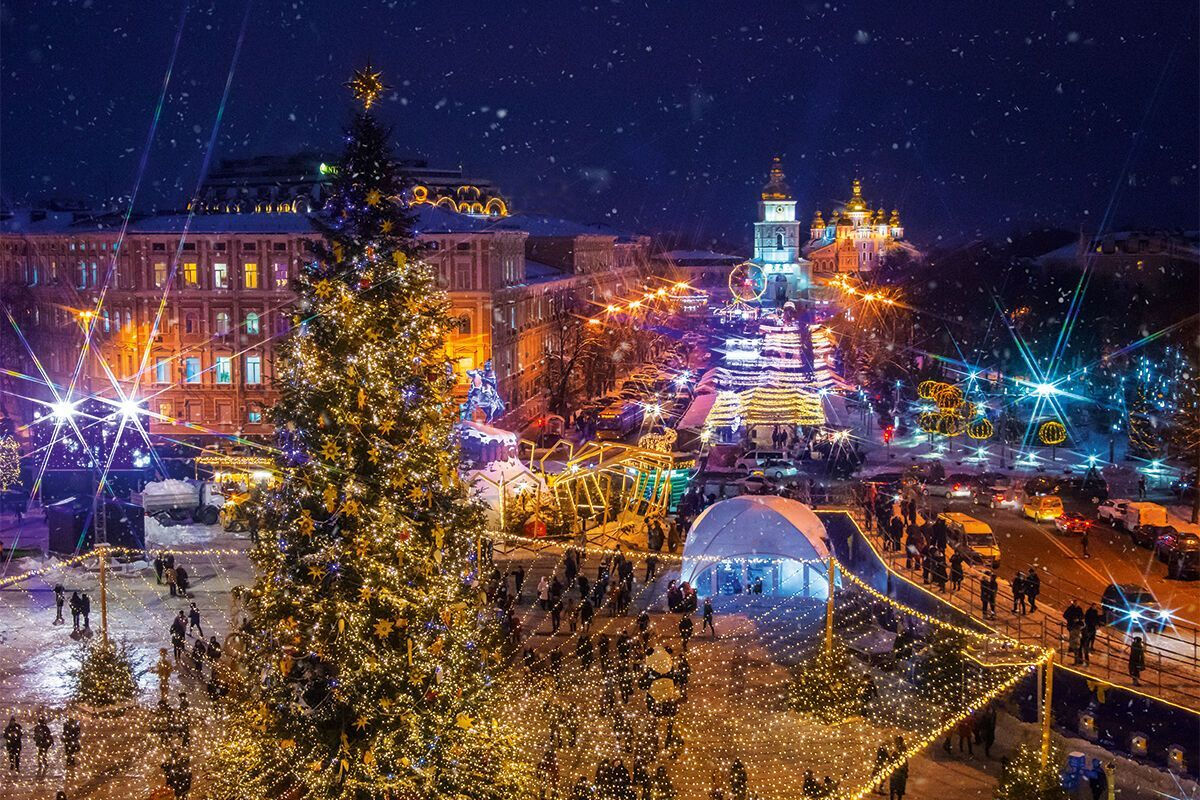 Киев в зимний сезон.