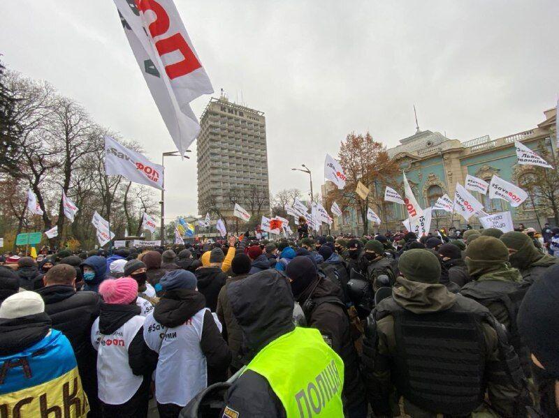 На митинге произошли столкновения с полицией