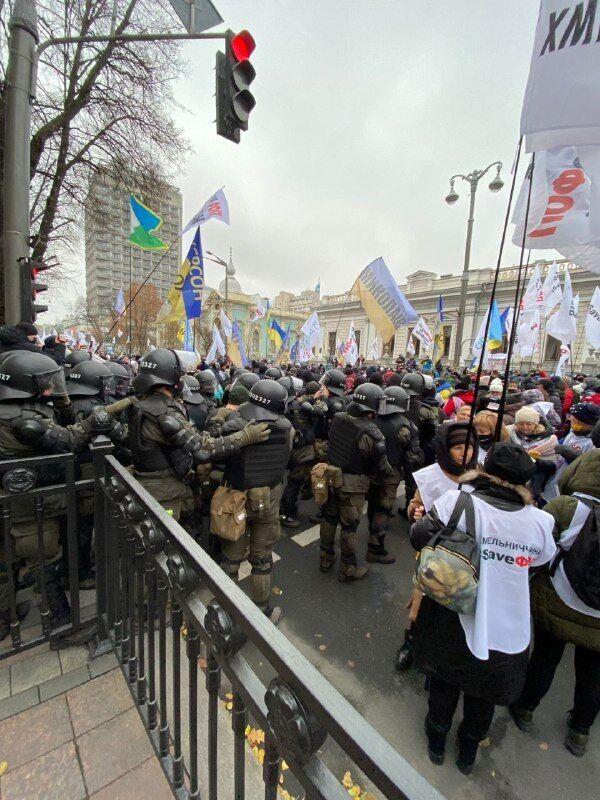 Протестный митинг под Радой