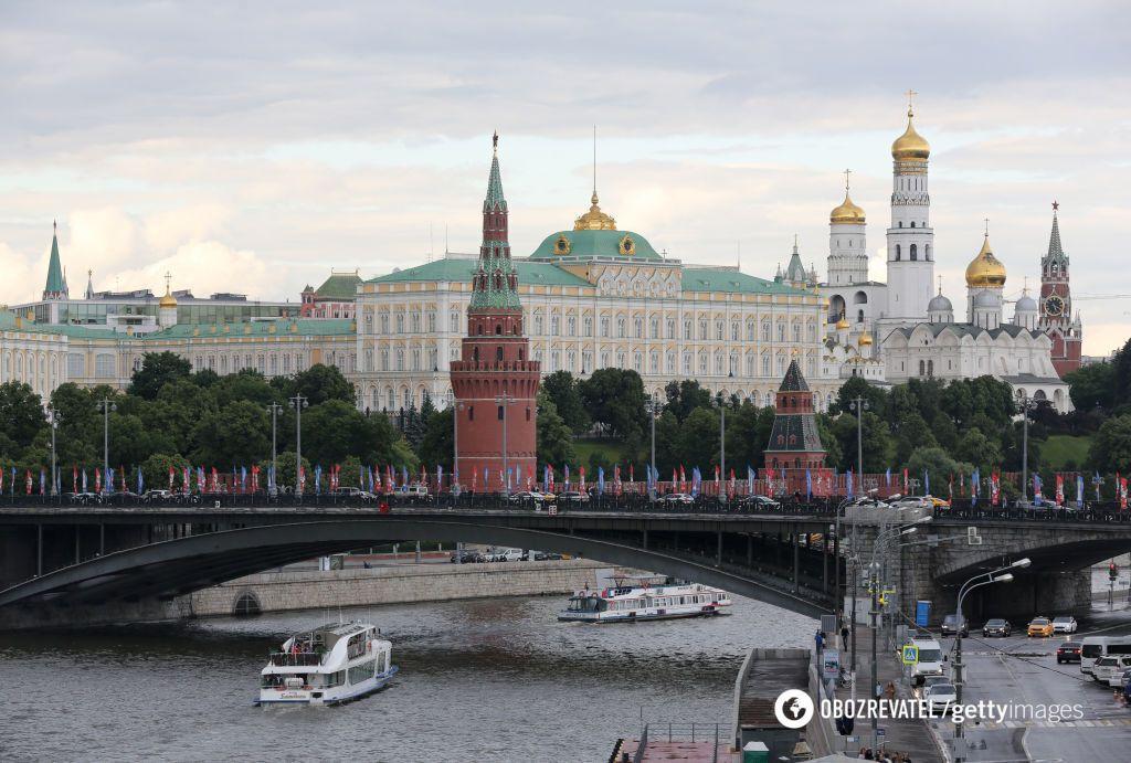 Центр Москвы, где находится главная резиденция Владимира Путина - Кремль
