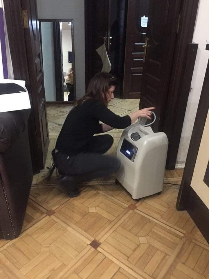 Волонтерка Катерина Ножевникова помогает в том числе и с обеспечением кислородных концентраторов