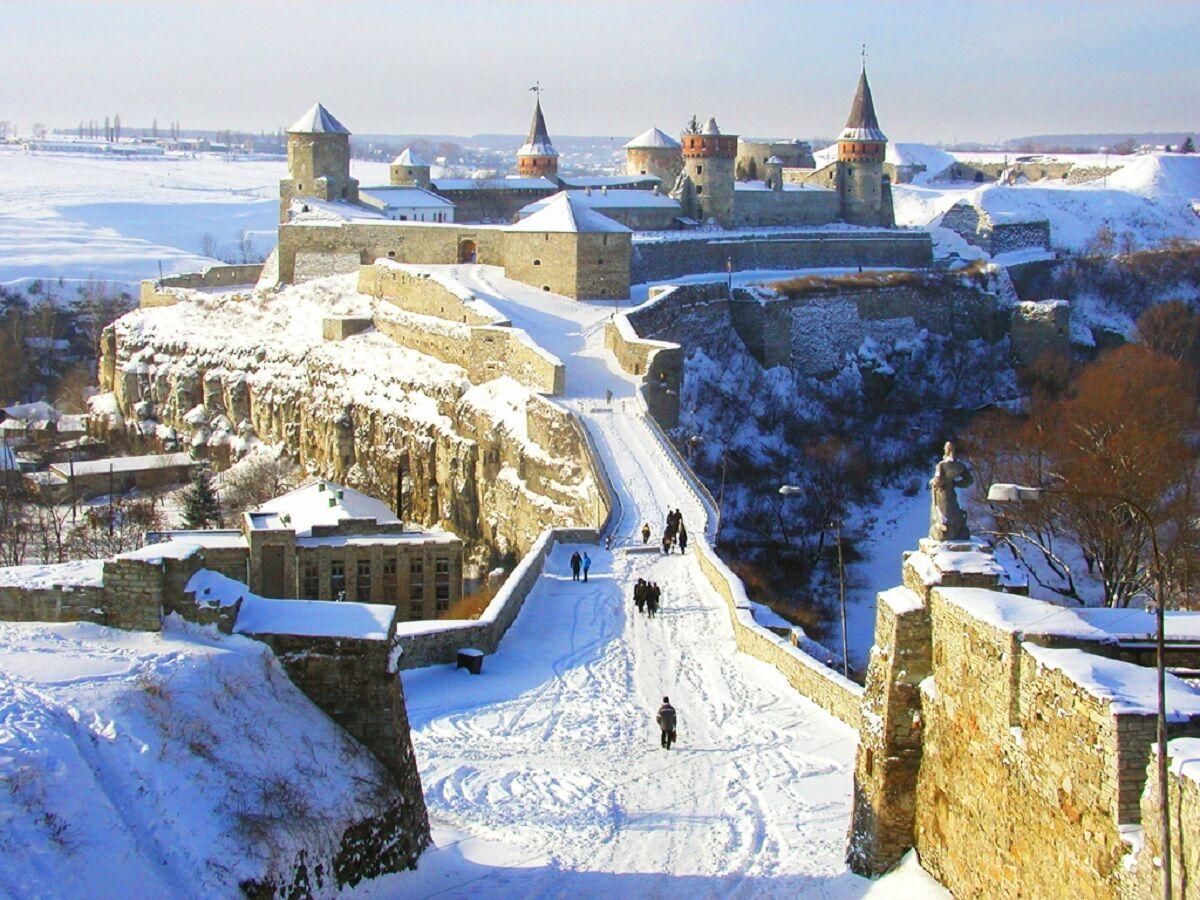 Каменец-Подольский в зимний сезон.