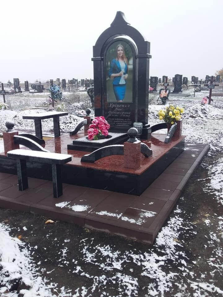 Могила Дианы Хриненко