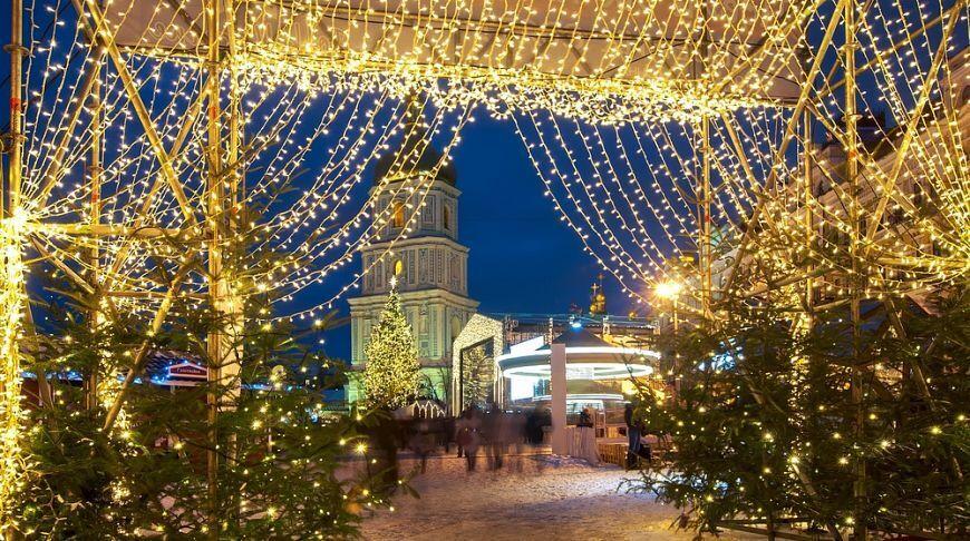 Рождественские ярмарки в Киеве. Иллюстрация