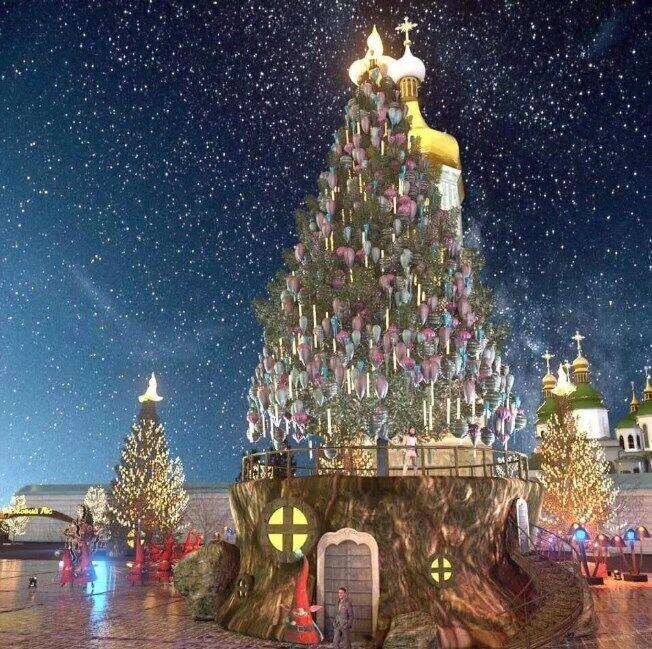 Так будет выглядеть главная новогодняя елка Украины.