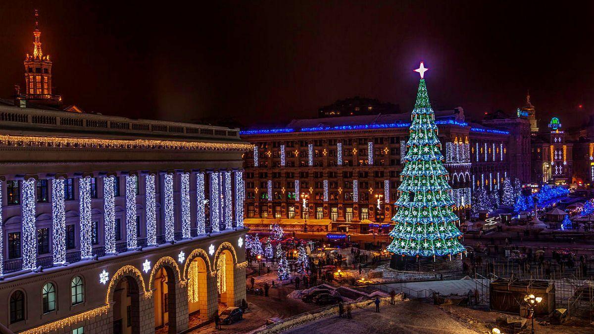 Новый год в Киеве. Иллюстрация