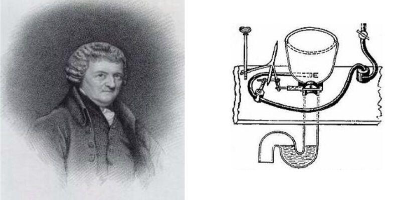 У 1775 році Олександр Каммінгс додав до туалету зі змивом S-подібну трубу