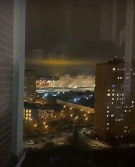 После взрыва в Коммунарке были видны клубы дыма.