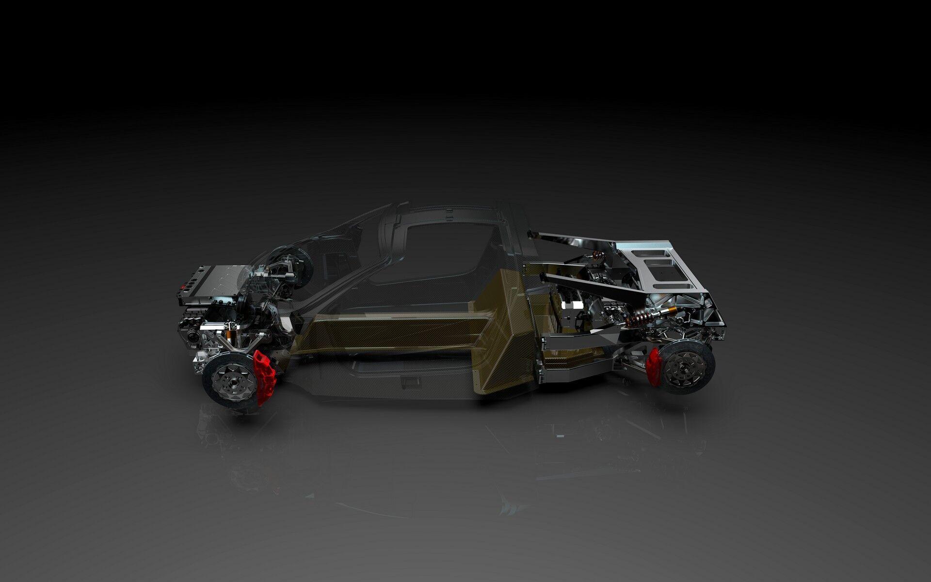 В основі купе Freedom лежить карбоновий монокок вагою приблизно 82 кг, з яким з'єднується T-образна літій-іонна батарея