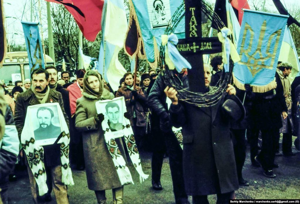 Василь Стус, Юрій Литвин і Олекса Тихий були перепоховані 19 листопада 1989 року