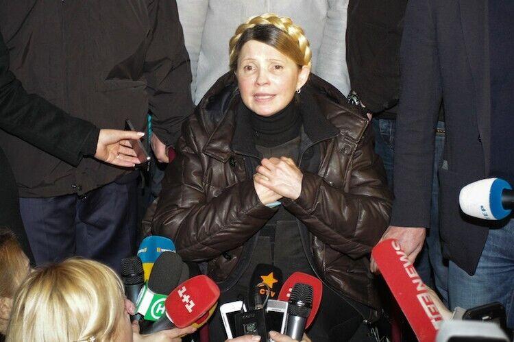 Юлія Тимошенко на Майдані, зима 2014-го