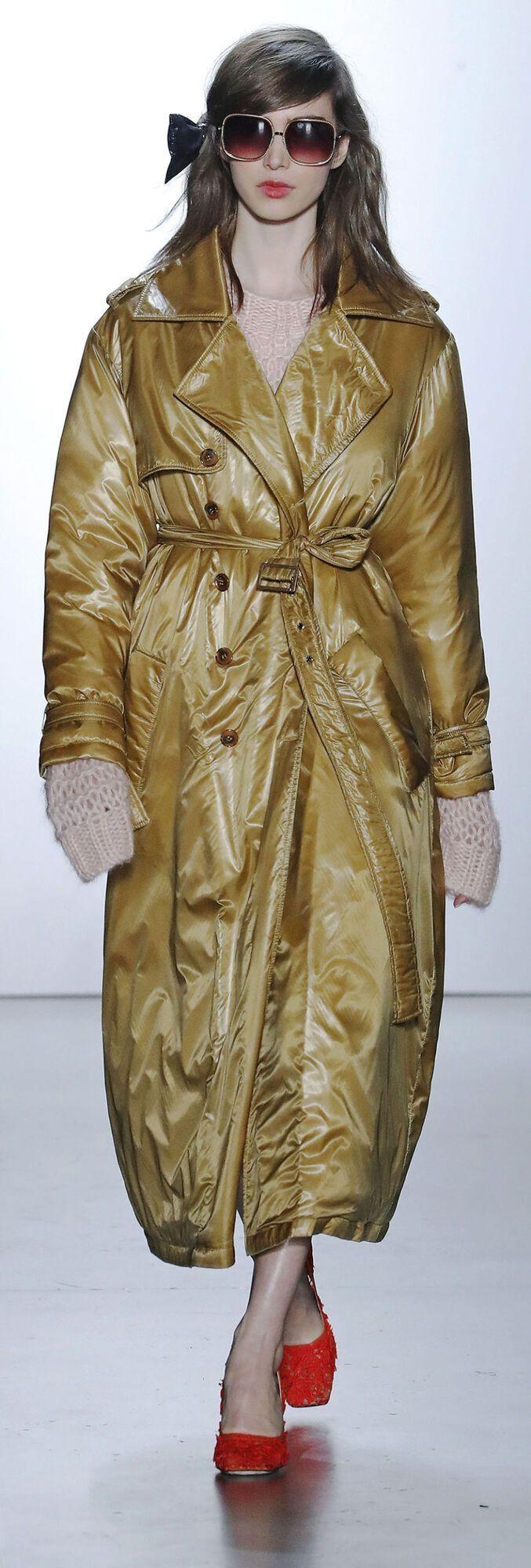 Пуховое пальто-халат