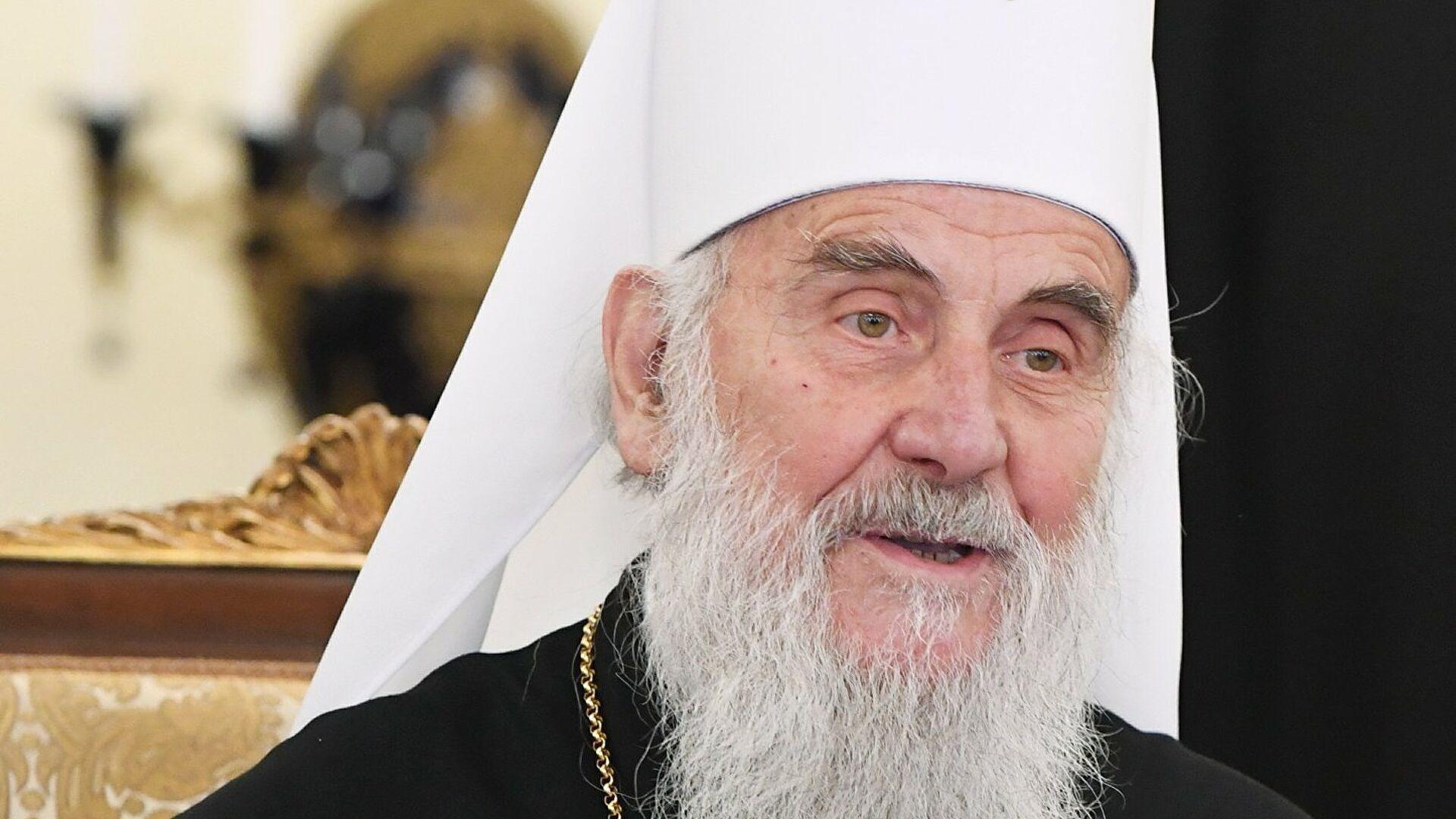 Сербский патриарх Ириней.