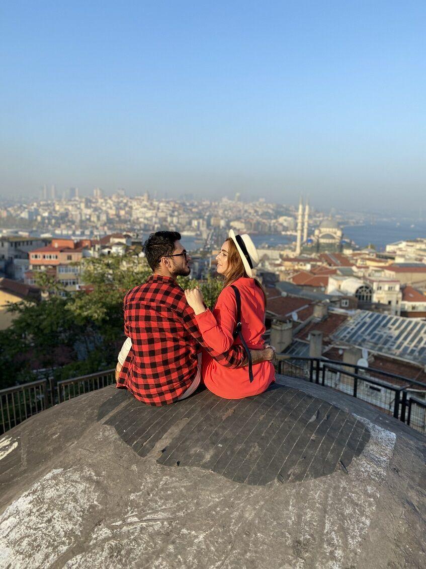 Крыша Buyuk Valide Han в Стамбуле.