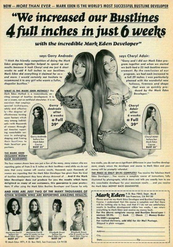 """Рекламні статті про """"диво-дію"""" приладу від Mark Eden"""