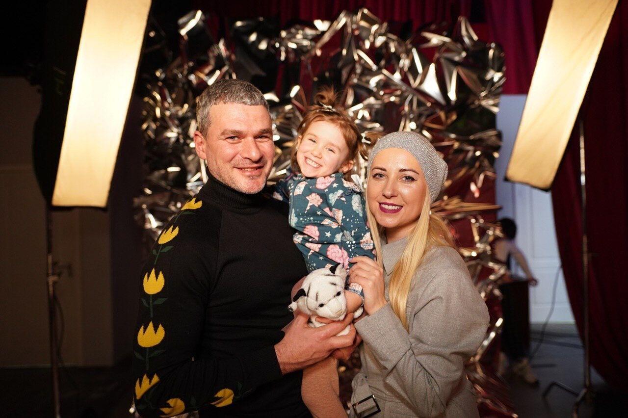 Арсен Мірзоян із дружиною Тонею Матвієнко і донькою Ніною