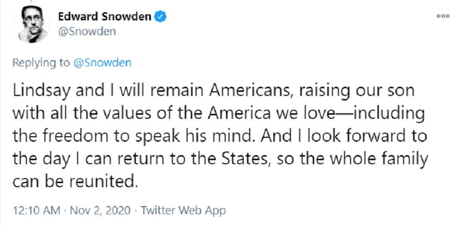 Пост Сноудена про сина