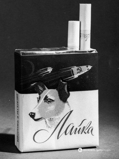 """У відповідь на реакцію на загибель першої собаки – космонавта в СРСР випустили сигарети """"Лайка"""""""