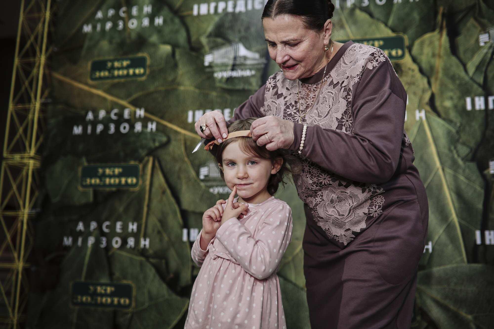 Теща Арсена Мірзояна Ніна Митрофанівна Матвієнко з онукою Ніною