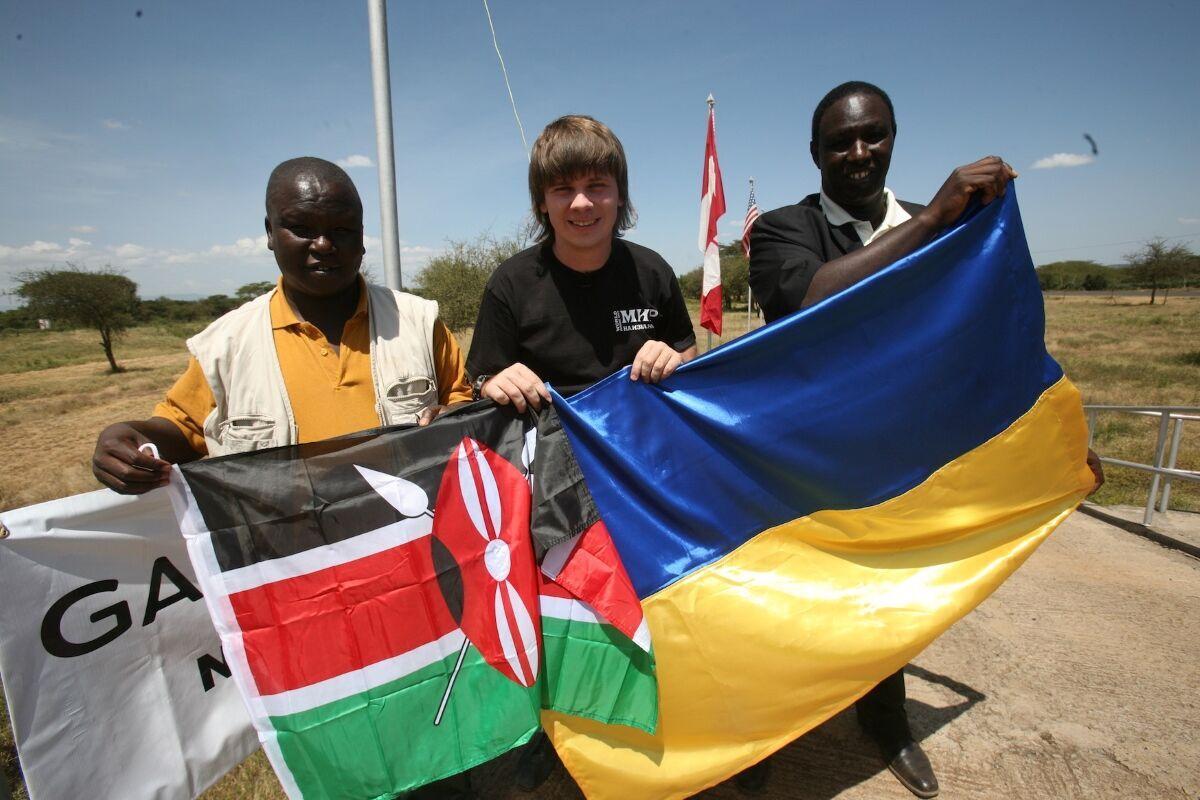 Дмиррий Комаров во время экспедиции по Африке