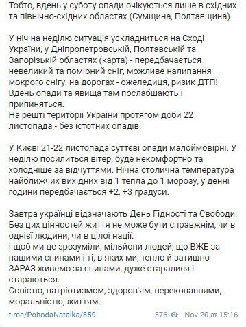 Telegram Натальи Диденко.
