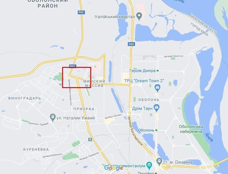 ДТП произошло в Оболонском районе Киева.