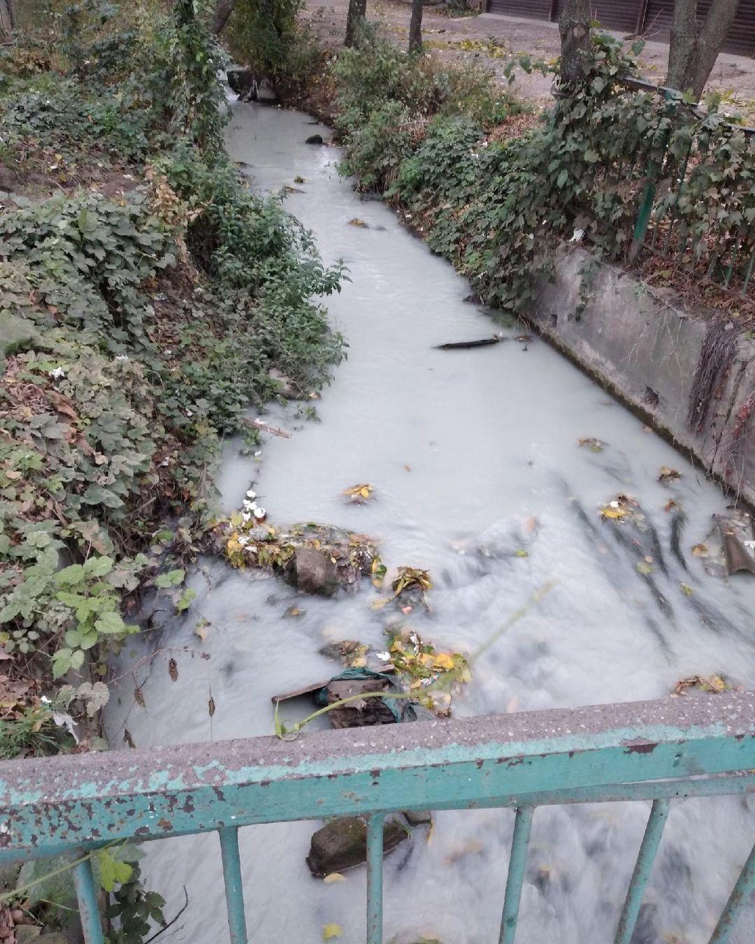 Местным жителям предложили набирать воду из местной грязной реки Славянка