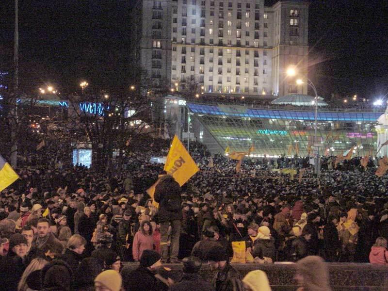 Оранжевая революция на Майдане в Киеве, 22 ноября 2004 года