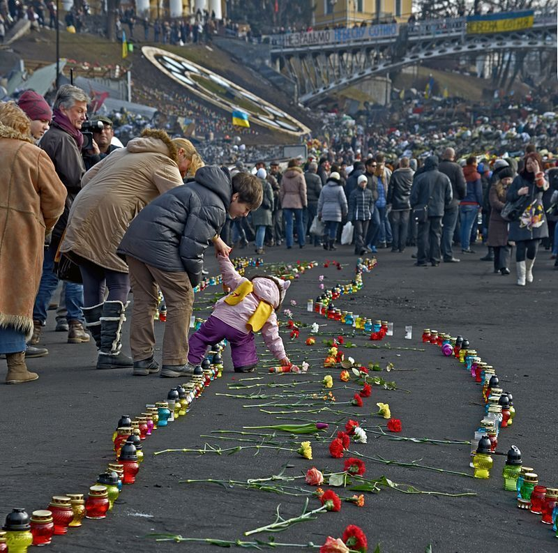 Інститутська вулиця, Київ, 24 лютого 2014 року