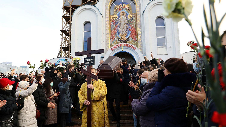 Траурная церемония прошла в Храме Воскресения Христова