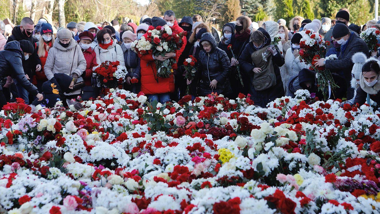 В прощании с Бондаренко участвовали тысячи людей