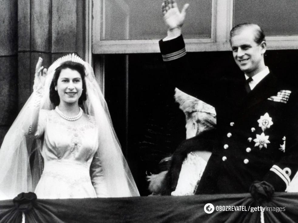 Весілля Єлизавети II і Філіпа.